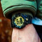 G-Shock GA-710GB-1AER NO COMPLY BLACK AND GOLD G-SHOCK Style sportowy zegarek czarny