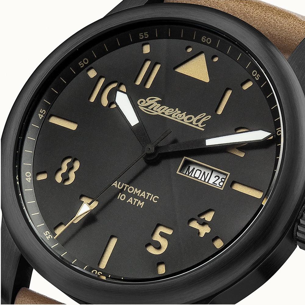 Ingersoll I01302 THE HATTON The Hatton klasyczny zegarek czarny