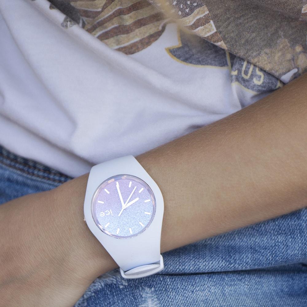 ICE Watch ICE.013431 ICE lo White Pink rozm. M ICE-Lo fashion/modowy zegarek biały