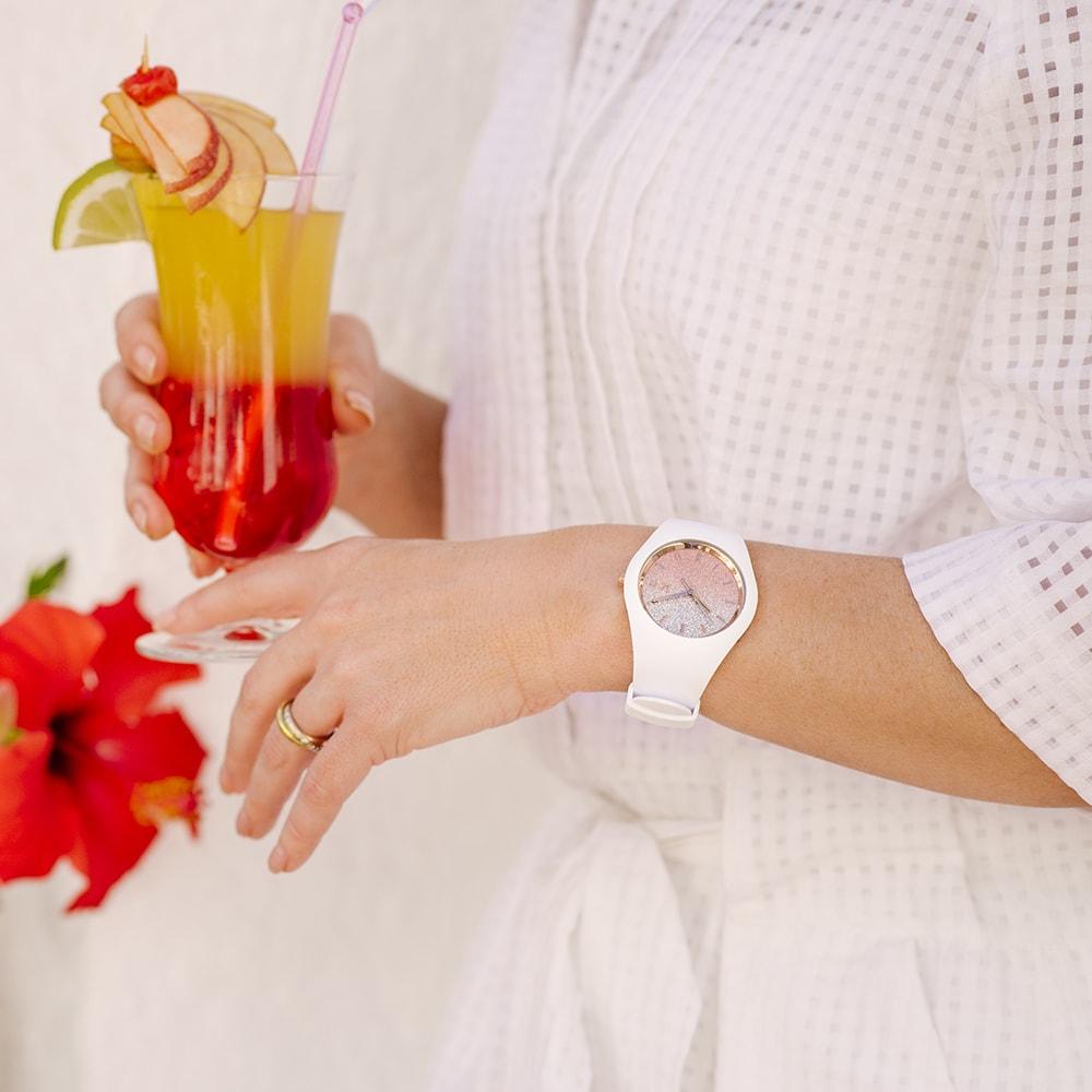 ICE Watch ICE.013431 ICE-Lo ICE lo White Pink rozm. M zegarek damski fashion/modowy mineralne