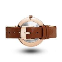 Mockberg MO115 VILDE BLACK Original klasyczny zegarek różowe złoto