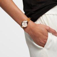 DKNY NY2415 zegarek różowe złoto fashion/modowy Pasek pasek