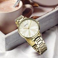 Lorus RG296NX9 zegarek złoty elegancki Fashion bransoleta