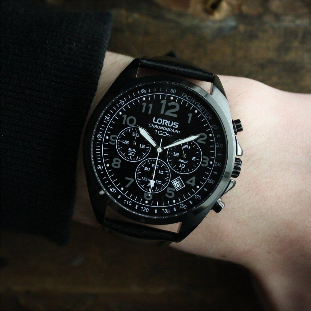 Lorus RT365CX9 zegarek czarny sportowy Klasyczne pasek