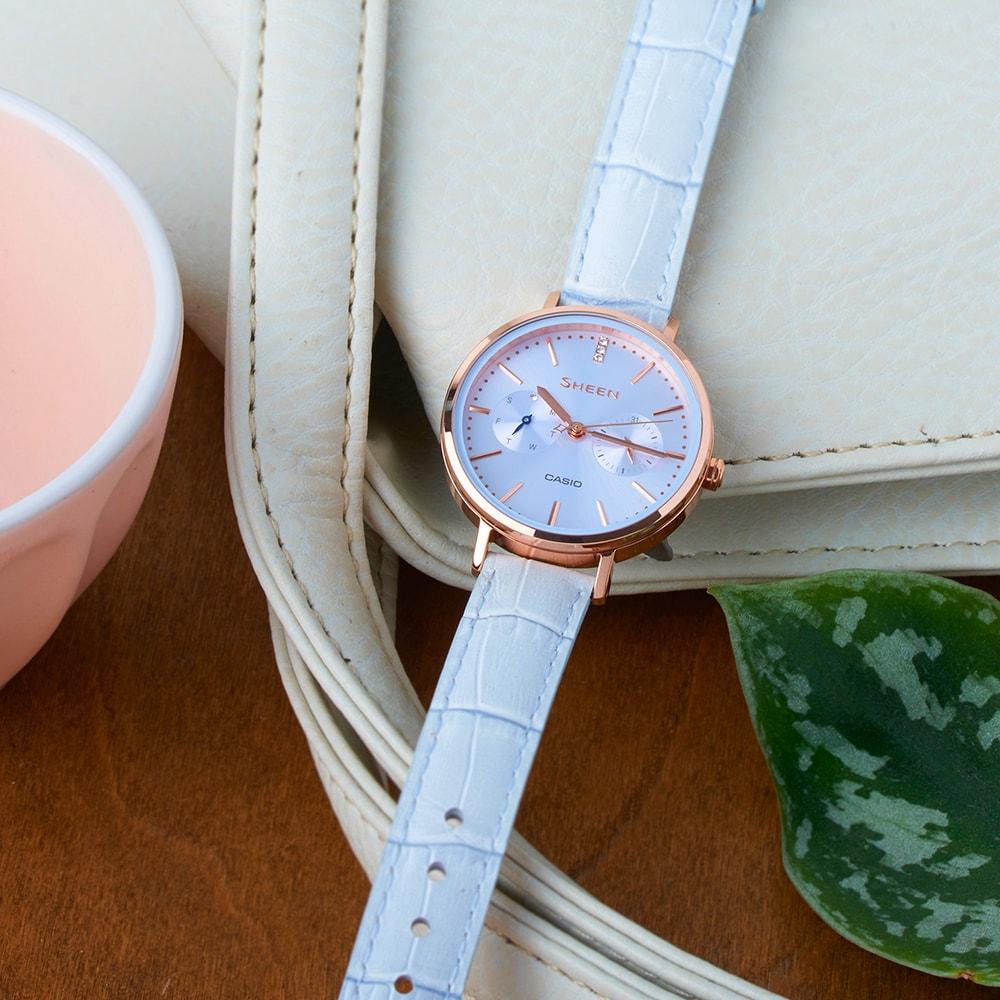 Sheen SHE-3054PGL-2AUER Sheen klasyczny zegarek różowe złoto