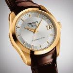 zegarek Tissot T035.207.36.031.00 różowe złoto Couturier