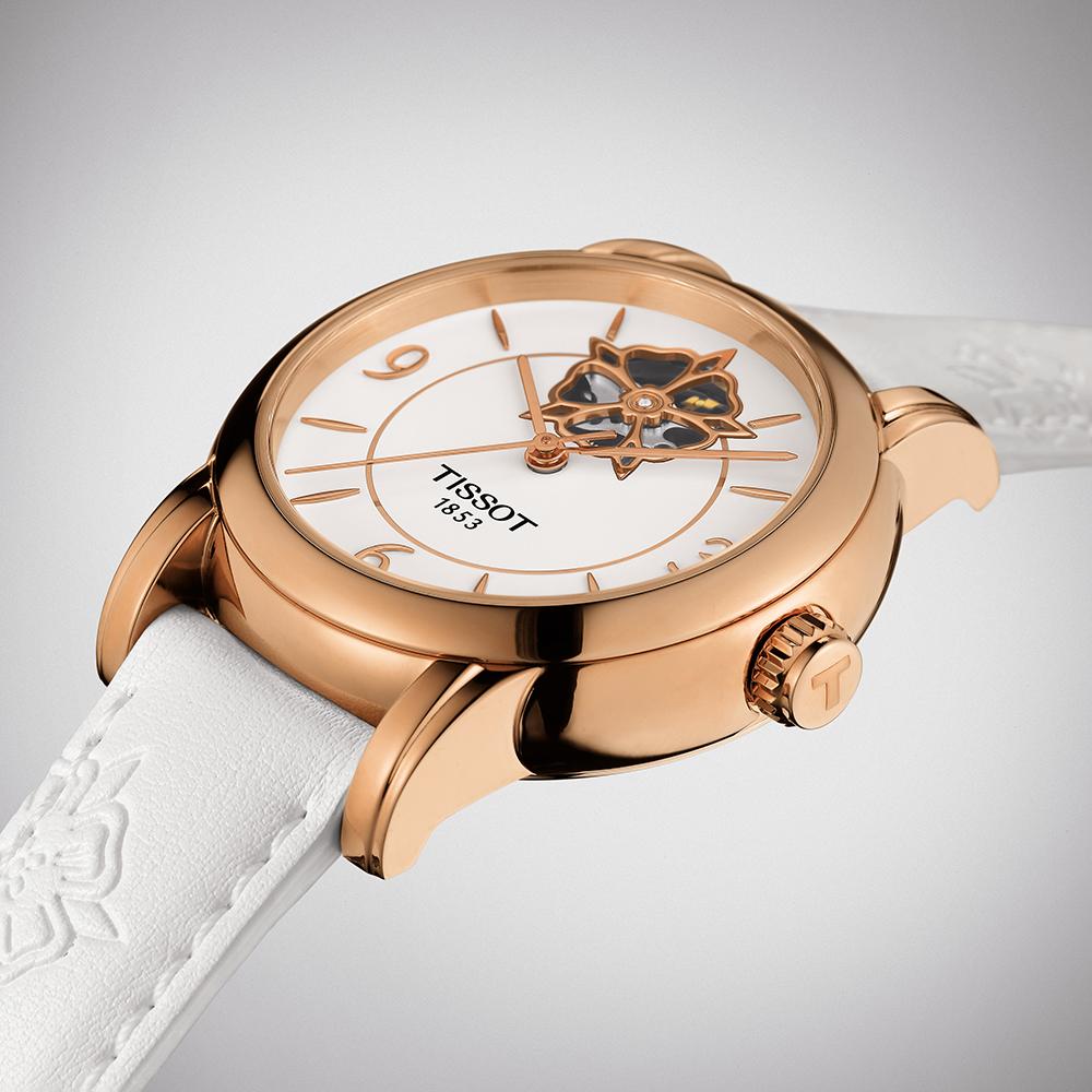 zegarek Tissot T050.207.37.017.04 różowe złoto Lady Heart