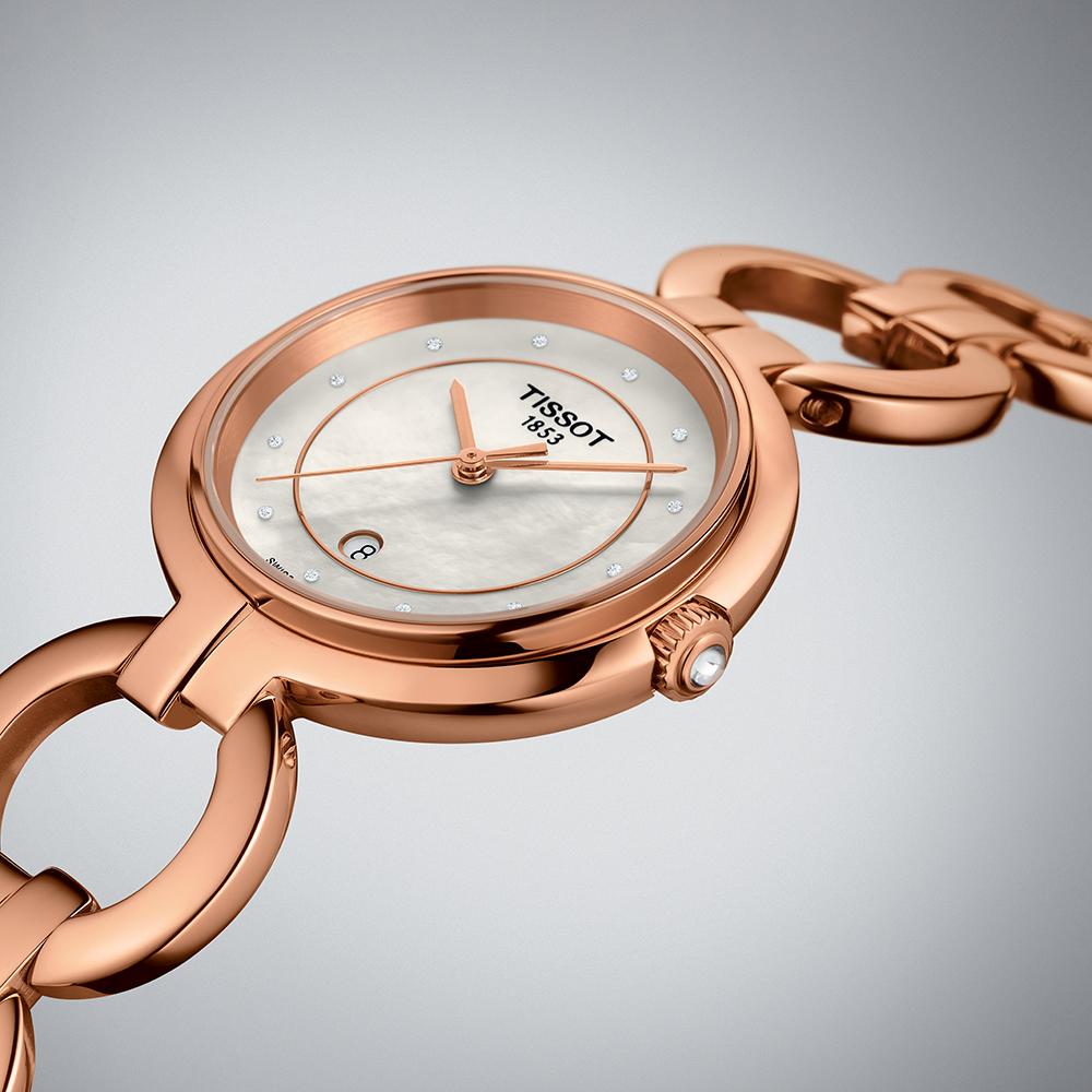 Tissot T094.210.33.116.01 FLAMINGO II DIAMONDS zegarek elegancki Flamingo