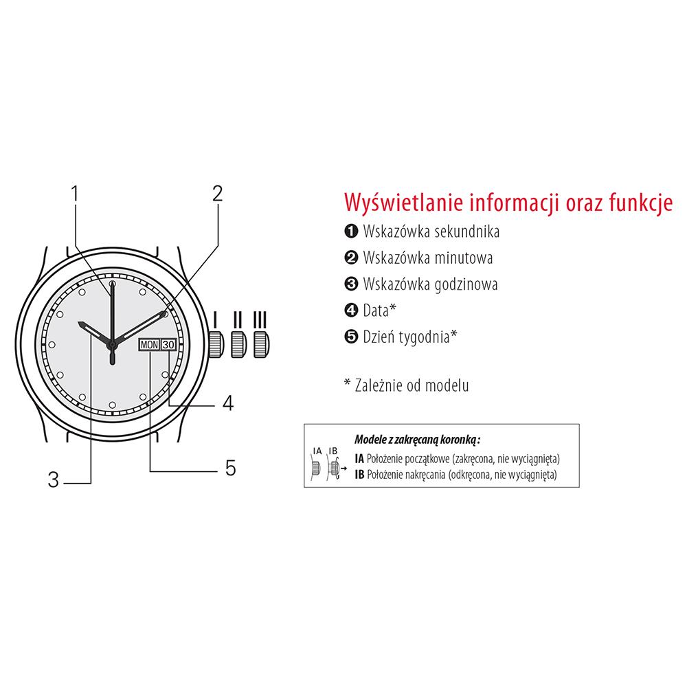 Tissot T112.210.11.036.00 zegarek srebrny klasyczny T-Wave bransoleta
