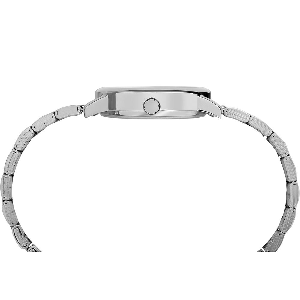 Timex TW2R23700 zegarek srebrny klasyczny Easy Reader bransoleta