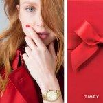 Timex TW2R36100 zegarek damski Metropolitan złoty