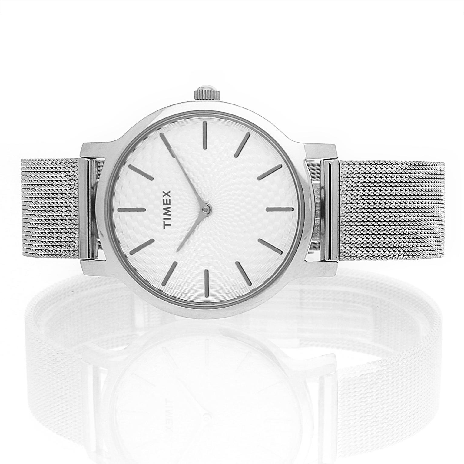 Timex TW2R36200 zegarek damski Metropolitan srebrny