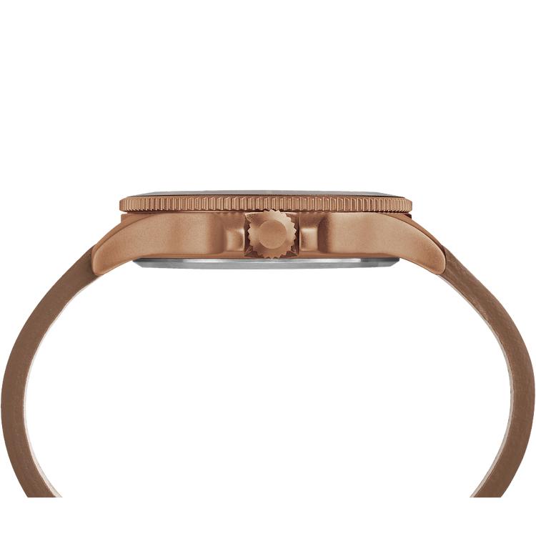 Timex TW2R45700 zegarek brązowy fashion/modowy Allied pasek