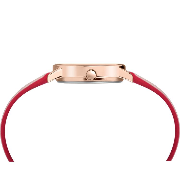 Timex TW2R62800 zegarek różowe złoto klasyczny Easy Reader pasek