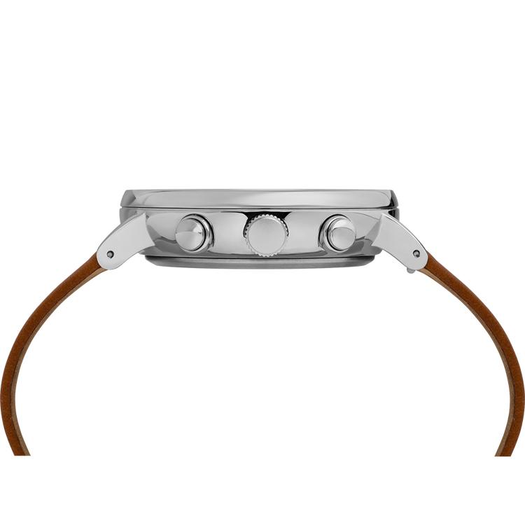 Timex TW2R79900 zegarek srebrny klasyczny Fairfield pasek
