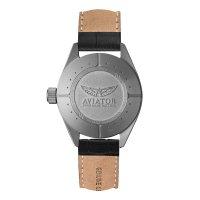 Aviator V.2.25.0.170.4 zegarek srebrny klasyczny Airacobra pasek