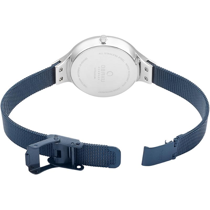zegarek Obaku Denmark V173LXCLML srebrny Slim