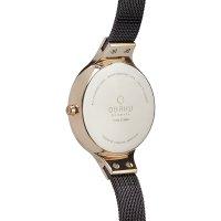 Obaku Denmark V173LXVNMN SKY - WALNUT Slim fashion/modowy zegarek różowe złoto