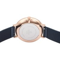 Obaku Denmark V186LXVLML VEST - OCEAN Slim fashion/modowy zegarek różowe złoto