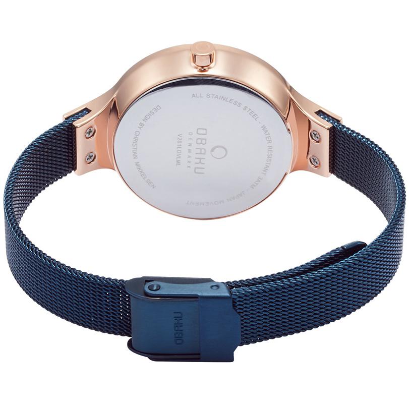Obaku Denmark V201LDVLML zegarek damski fashion/modowy Slim bransoleta