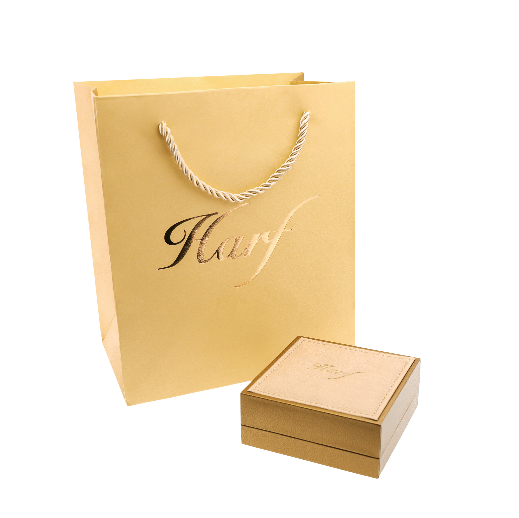 Pudełko i torebka do biżuterii Harf