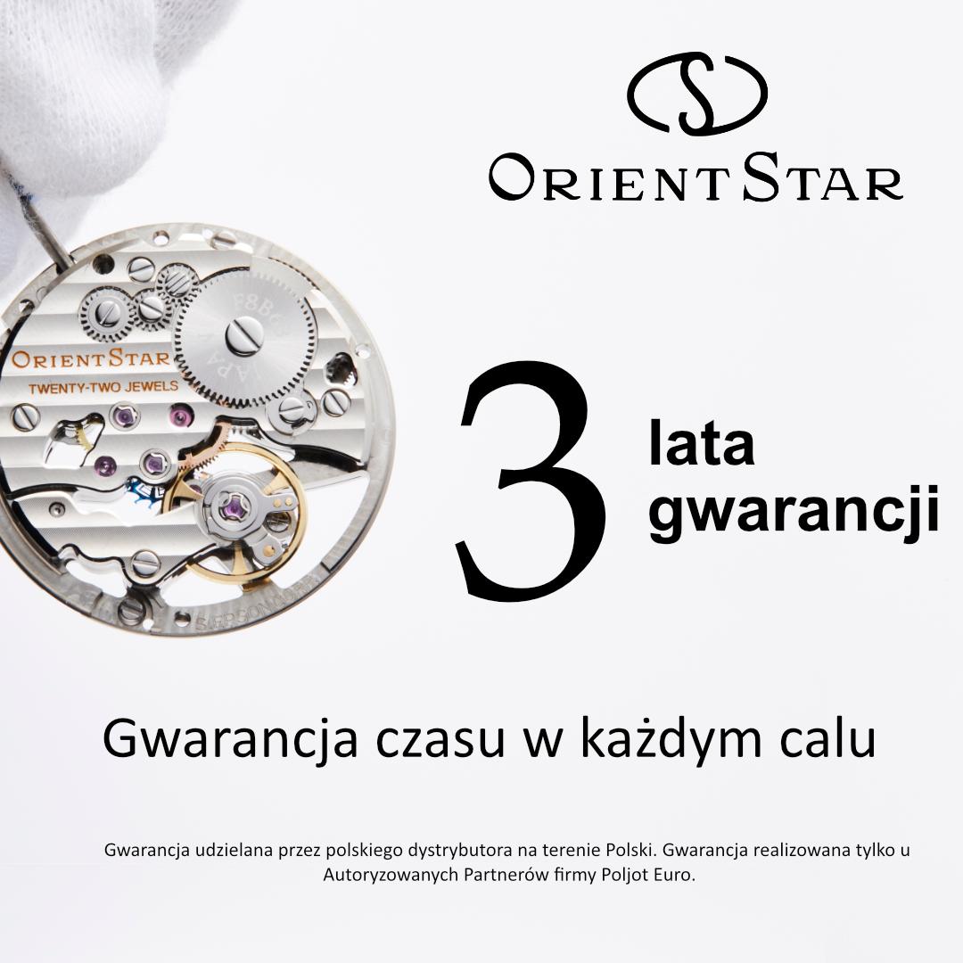 Orient Star przedłużona gwarancja 3 lata