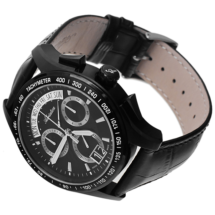 zegarek Adriatica A1160.B214CHC czarny Pasek