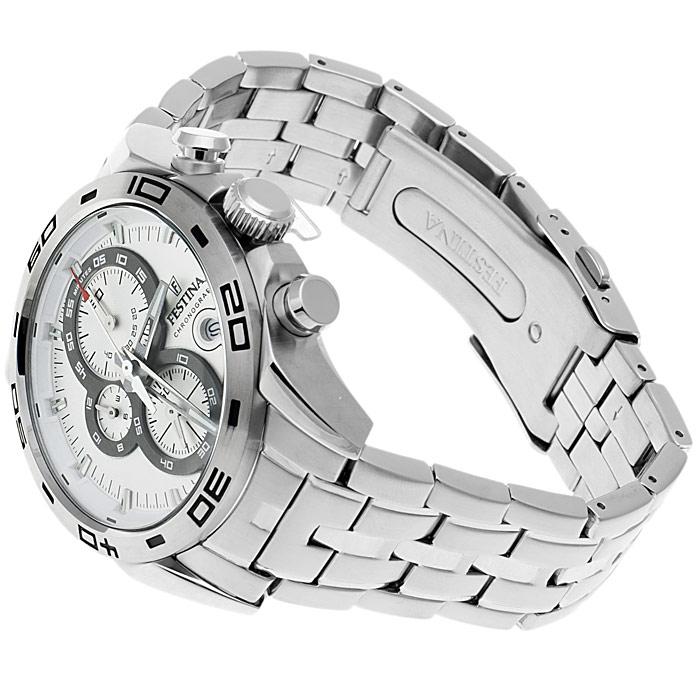 zegarek Festina F16654-1 srebrny Chronograf