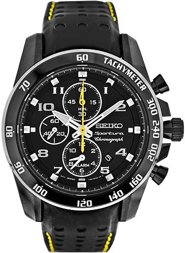 zegarek Seiko SNAE67P1 czarny Sportura
