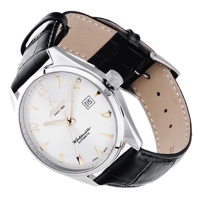 Atlantic 51752.41.25G Worldmaster Automatic Worldmaster klasyczny zegarek srebrny