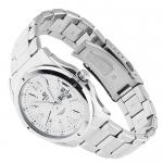 Edifice EF-129D-7AVEF EDIFICE Momentum klasyczny zegarek srebrny