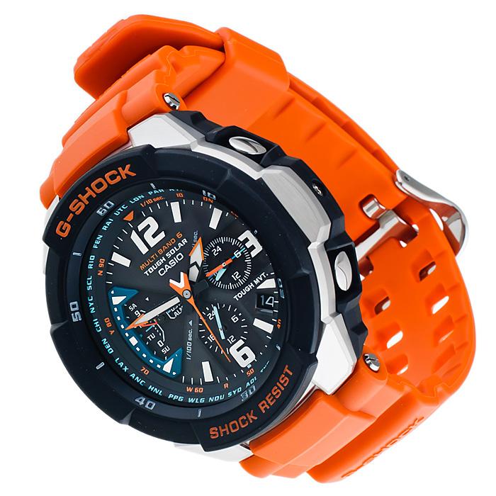 G-Shock GW-3000M-4AER zegarek męski G-SHOCK Master of G srebrny
