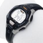 Timex T5E961 C30 Ironman Traditional 30-Lap Mid-Size Ironman sportowy zegarek srebrny