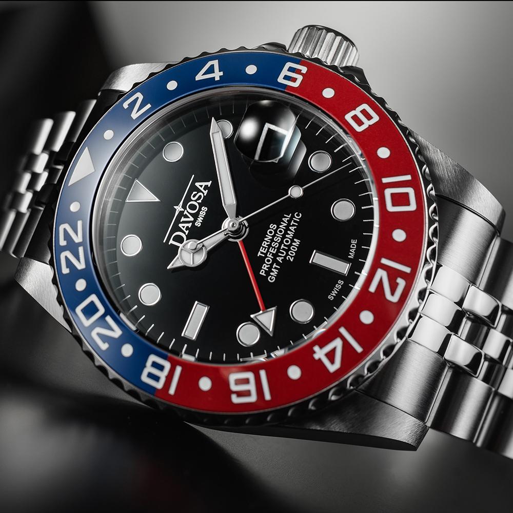 161.571.06 zegarek srebrny klasyczny Diving bransoleta