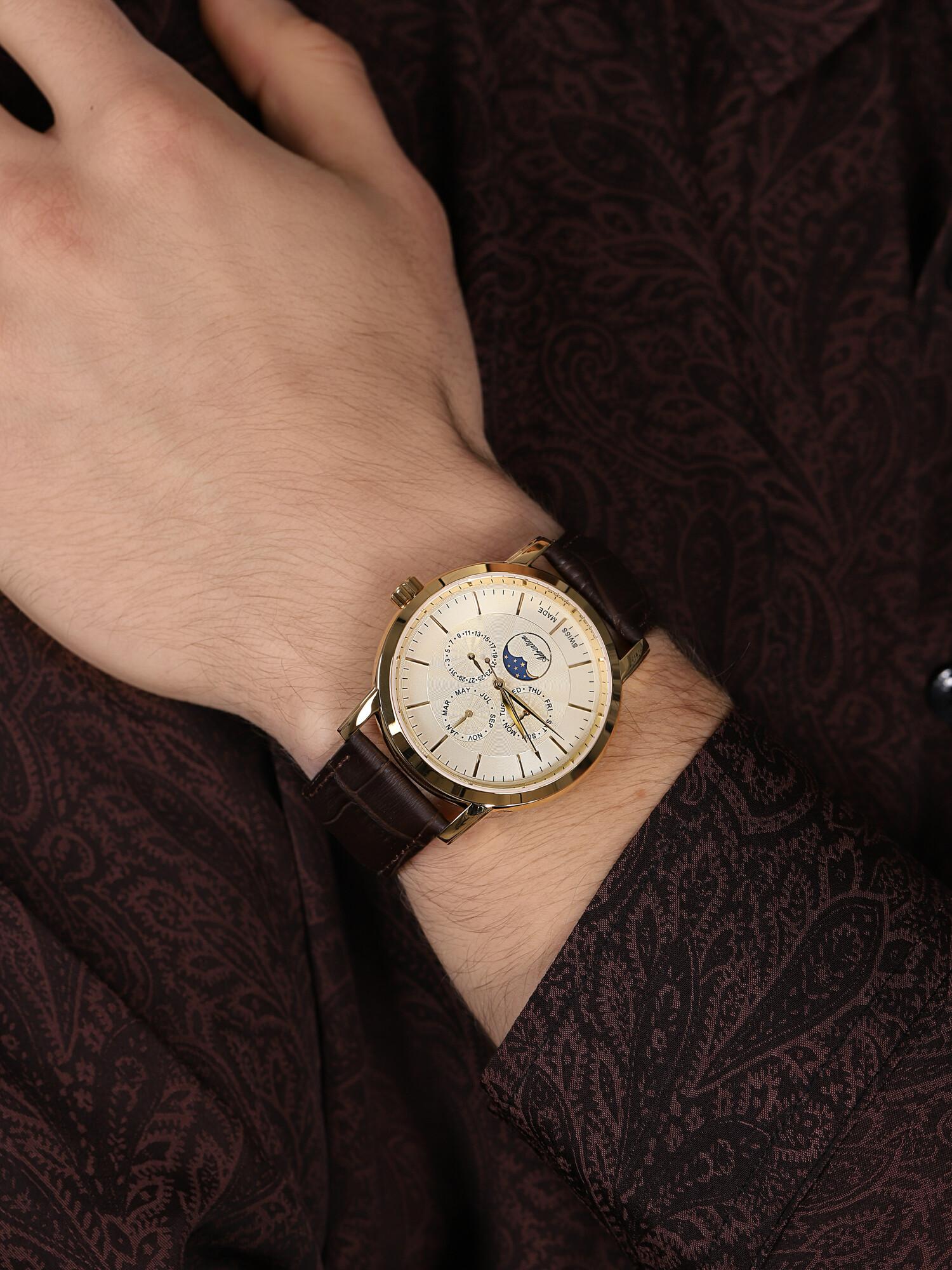 Adriatica A8134.1211QF zegarek złoty klasyczny Pasek pasek