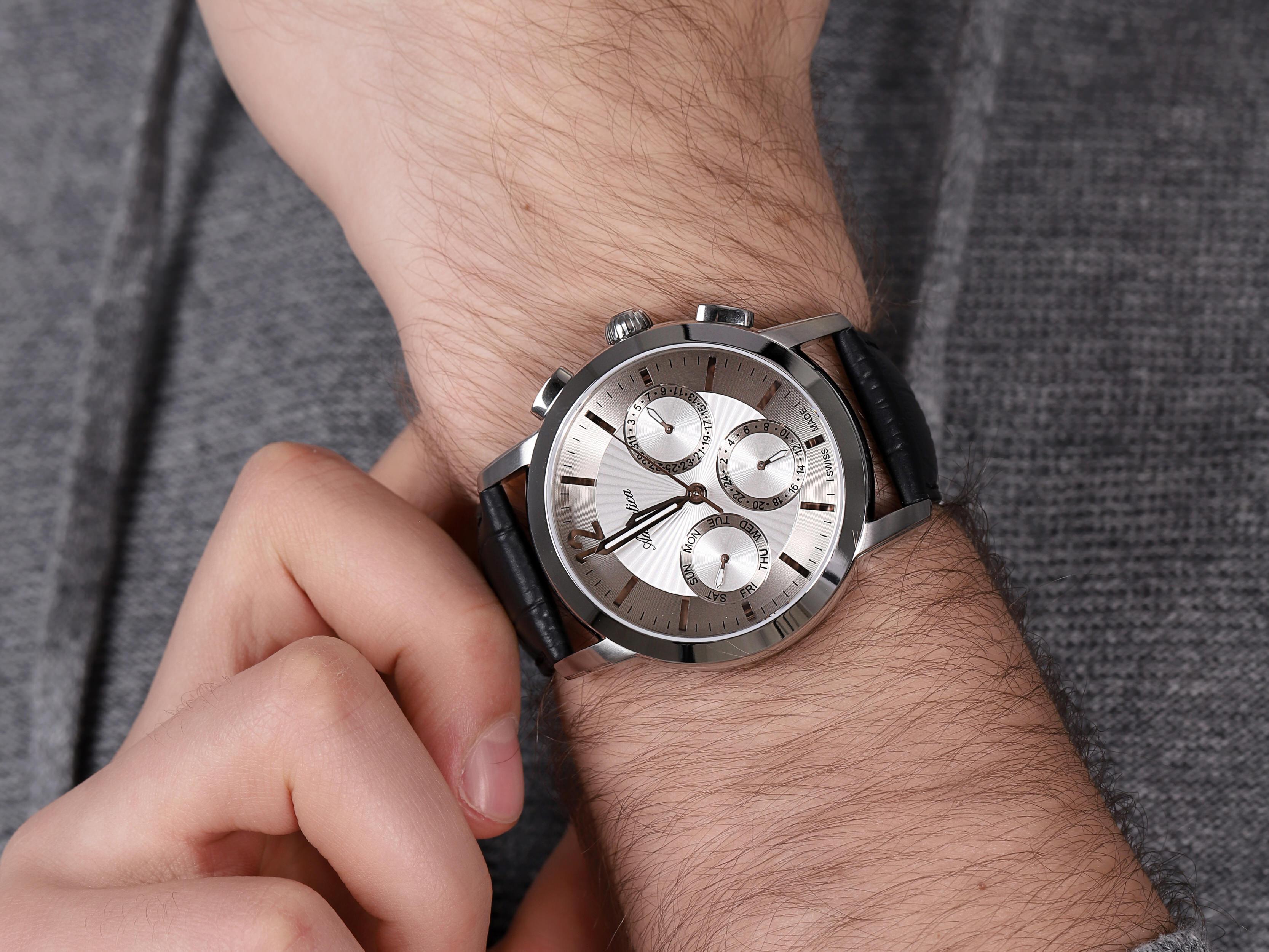 Adriatica A8273.5253QF męski zegarek Pasek pasek