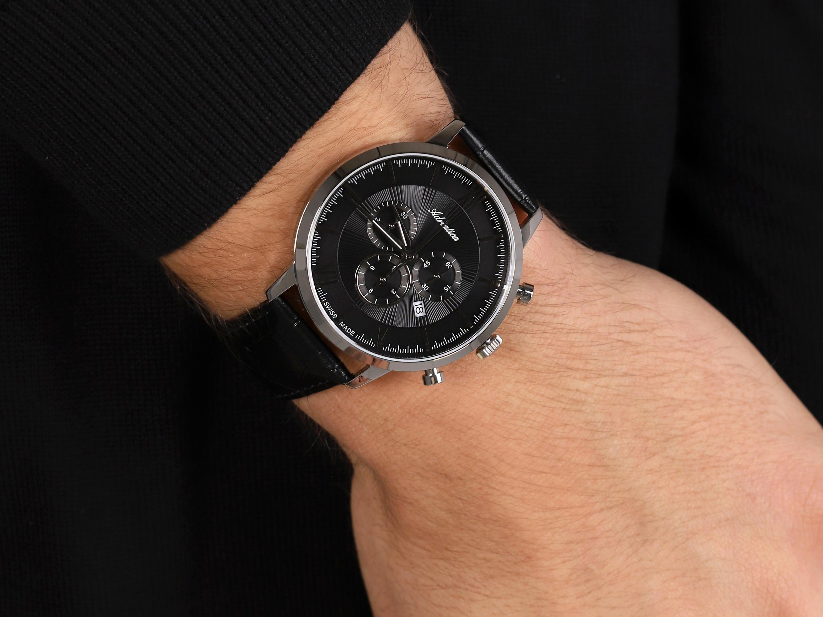 Adriatica A8298.5264CH Chronograph zegarek klasyczny Pasek