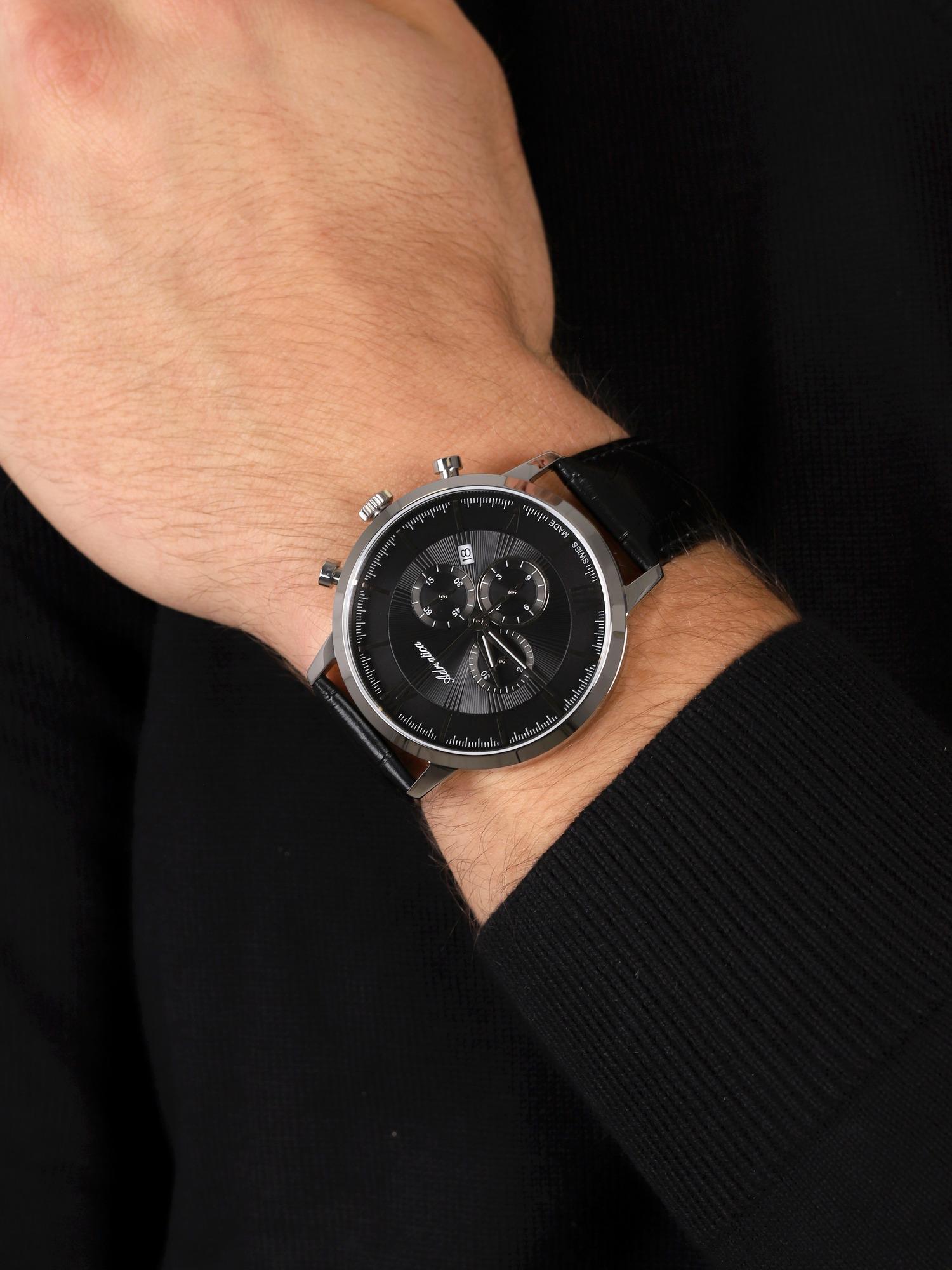 Adriatica A8298.5264CH zegarek srebrny klasyczny Pasek pasek