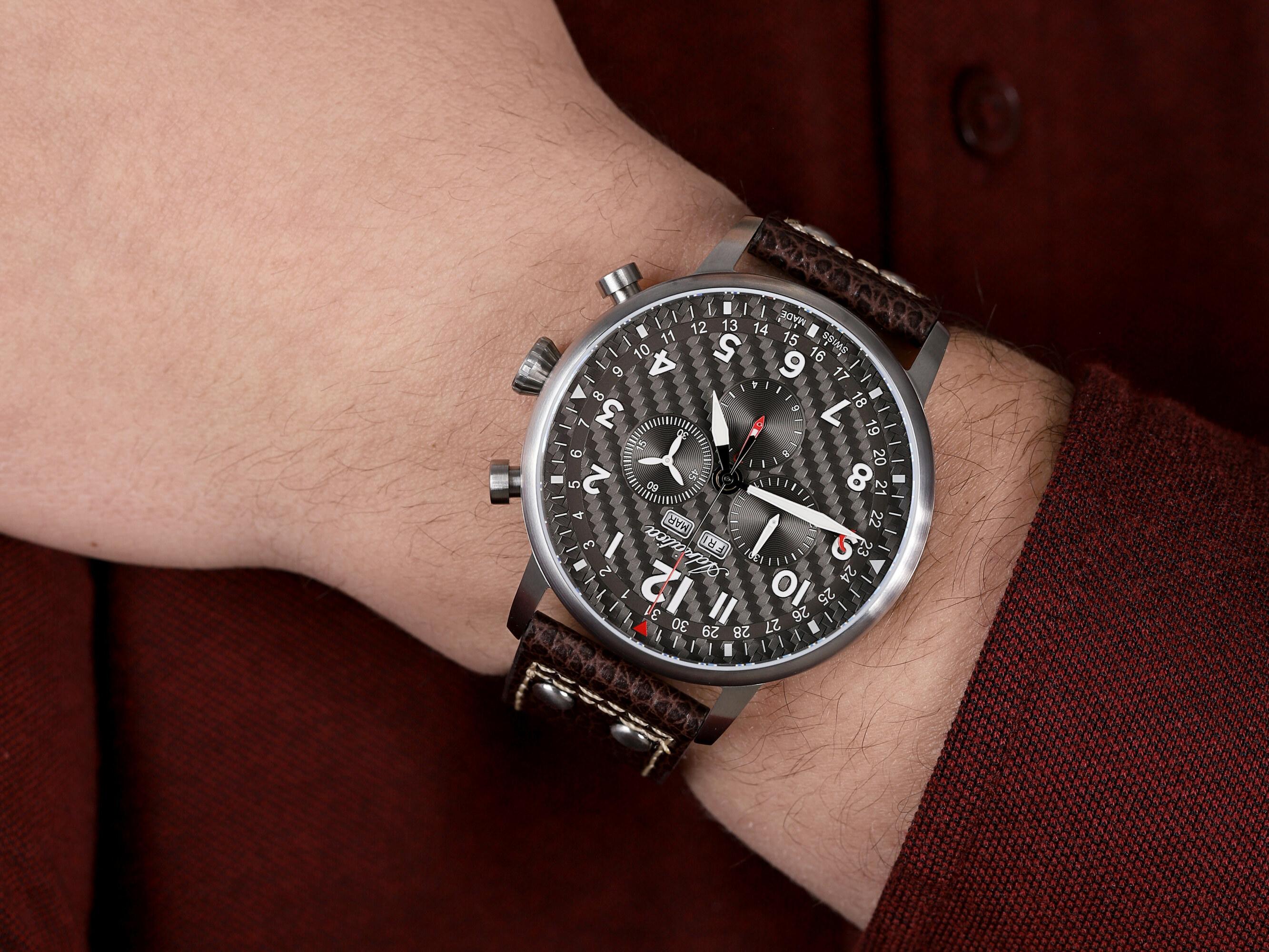 Adriatica A8308.5226CH Chronograph zegarek sportowy Pasek