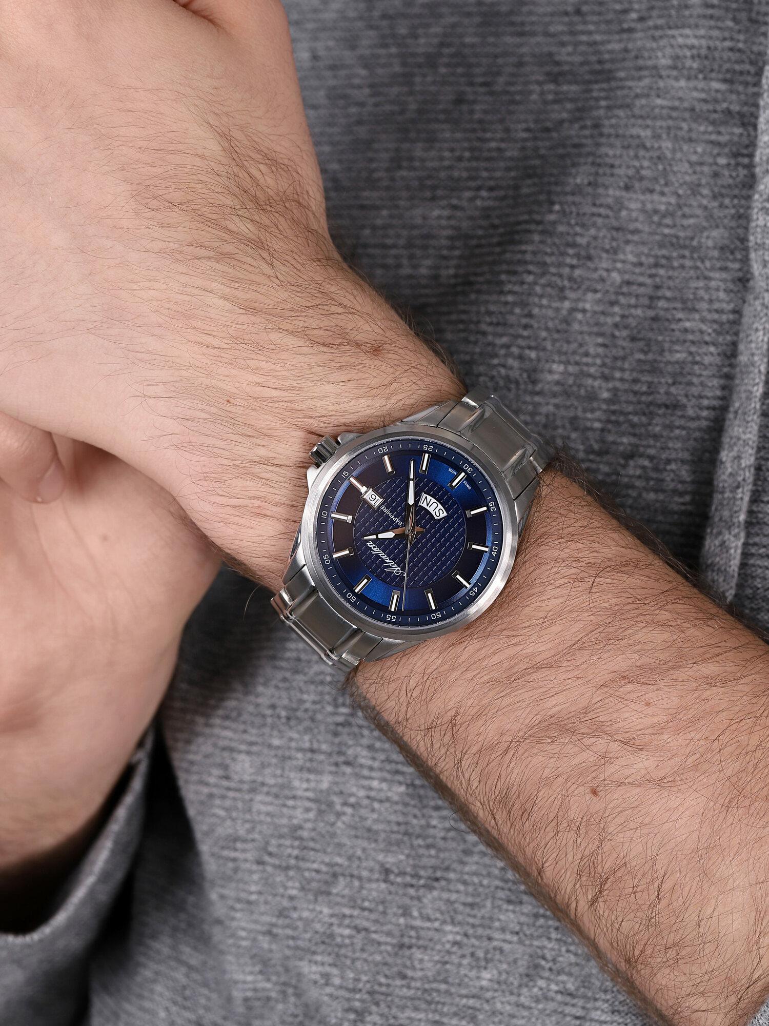 Adriatica A8321.5115Q zegarek srebrny klasyczny Bransoleta bransoleta