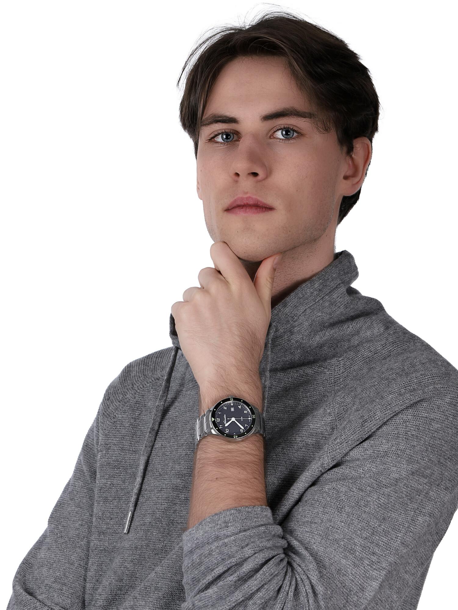 Adriatica A8322.5124Q zegarek srebrny klasyczny Bransoleta bransoleta