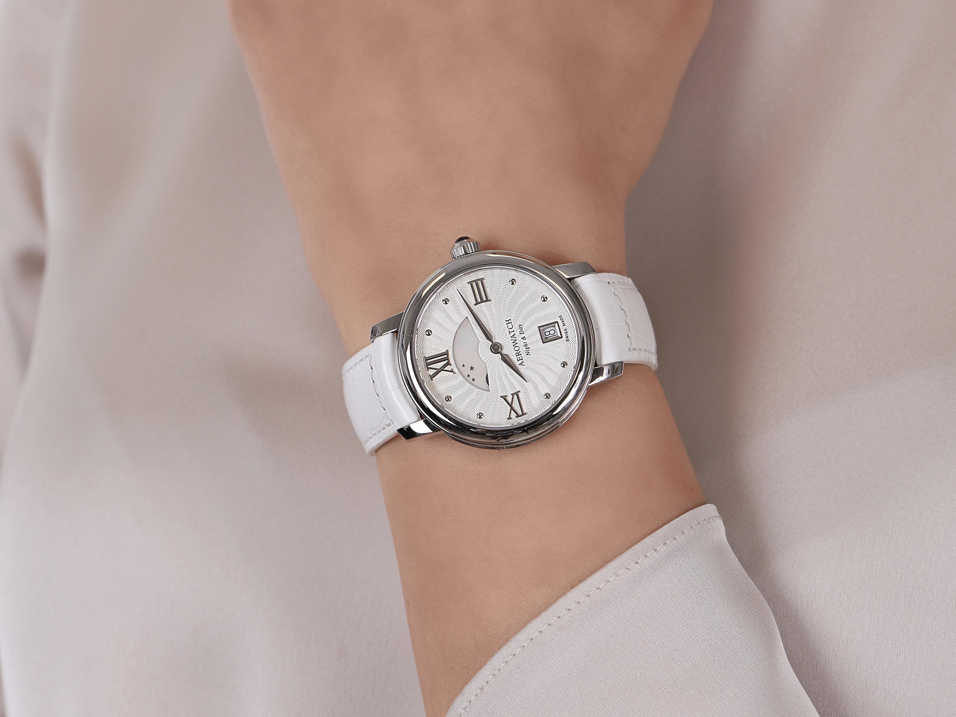 Aerowatch 44938-AA14 damski zegarek Renaissance pasek