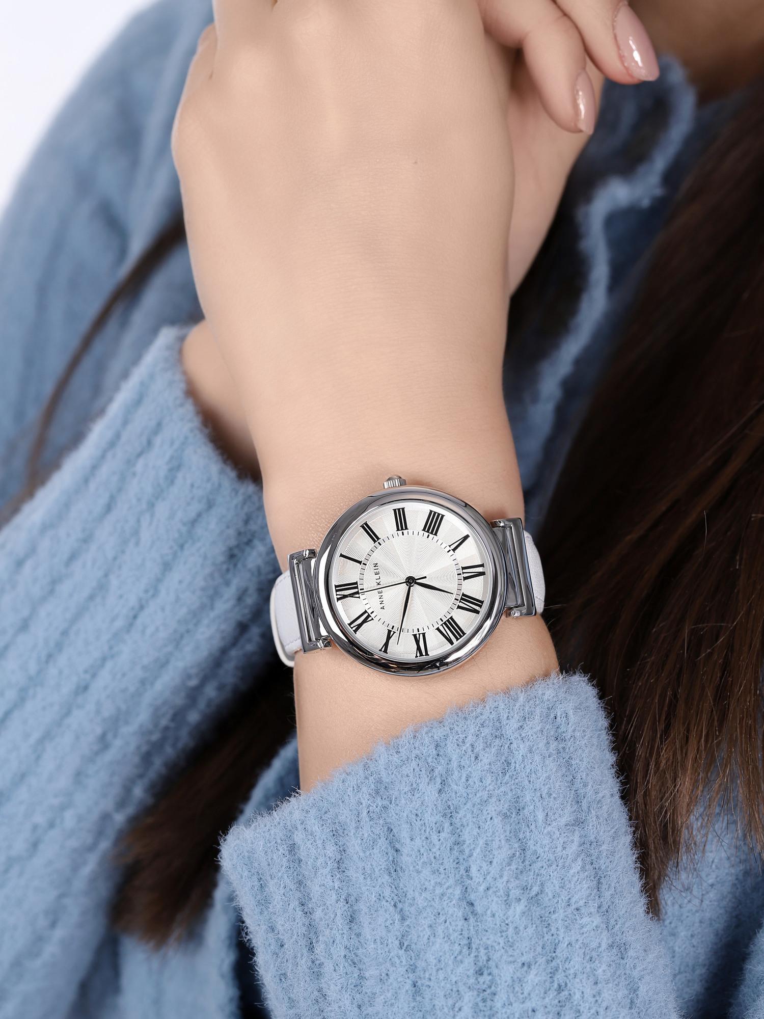 Anne Klein AK-2137SVWT damski zegarek Pasek pasek