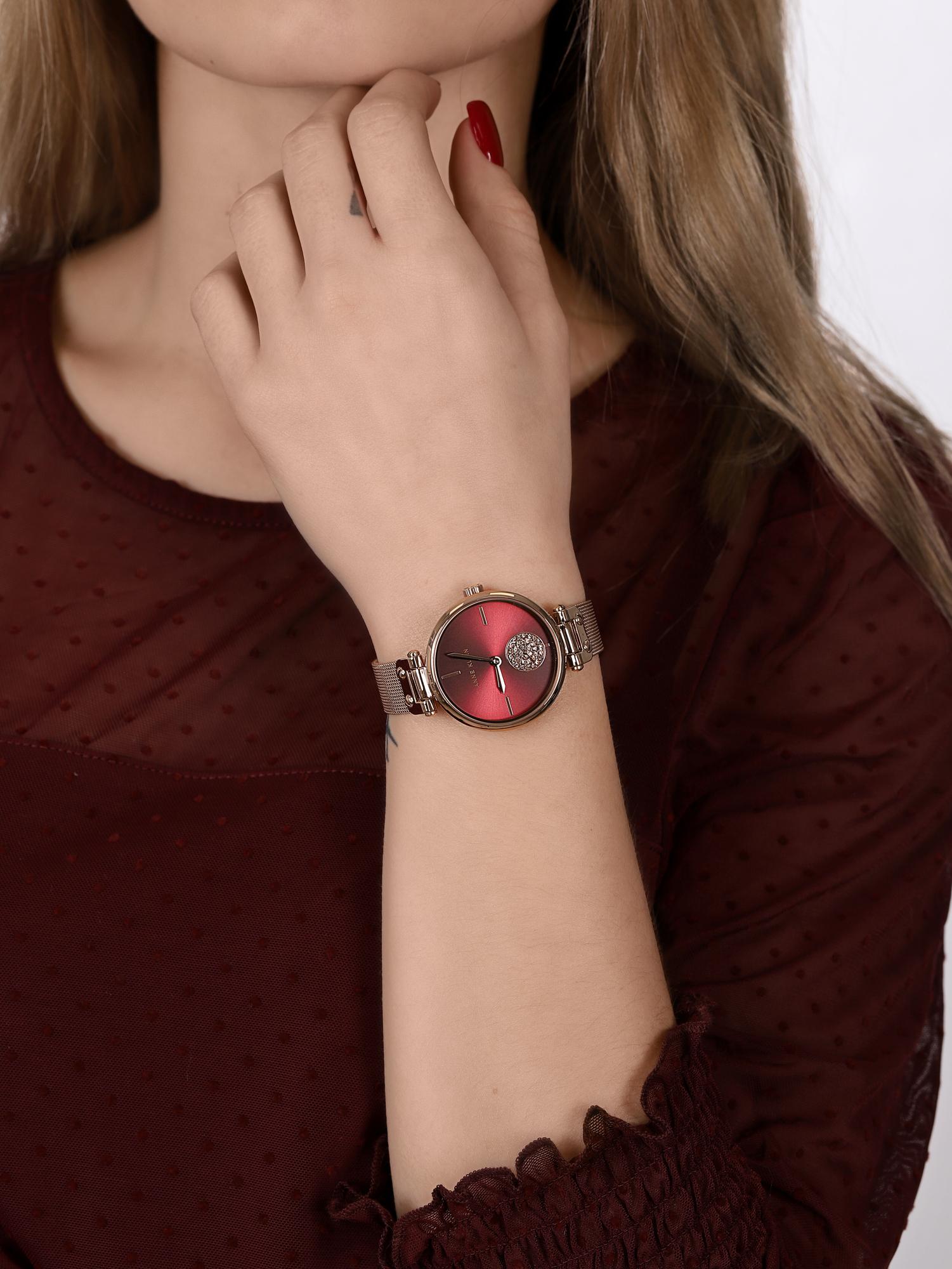 Anne Klein AK-3000BYRG zegarek różowe złoto fashion/modowy Bransoleta bransoleta