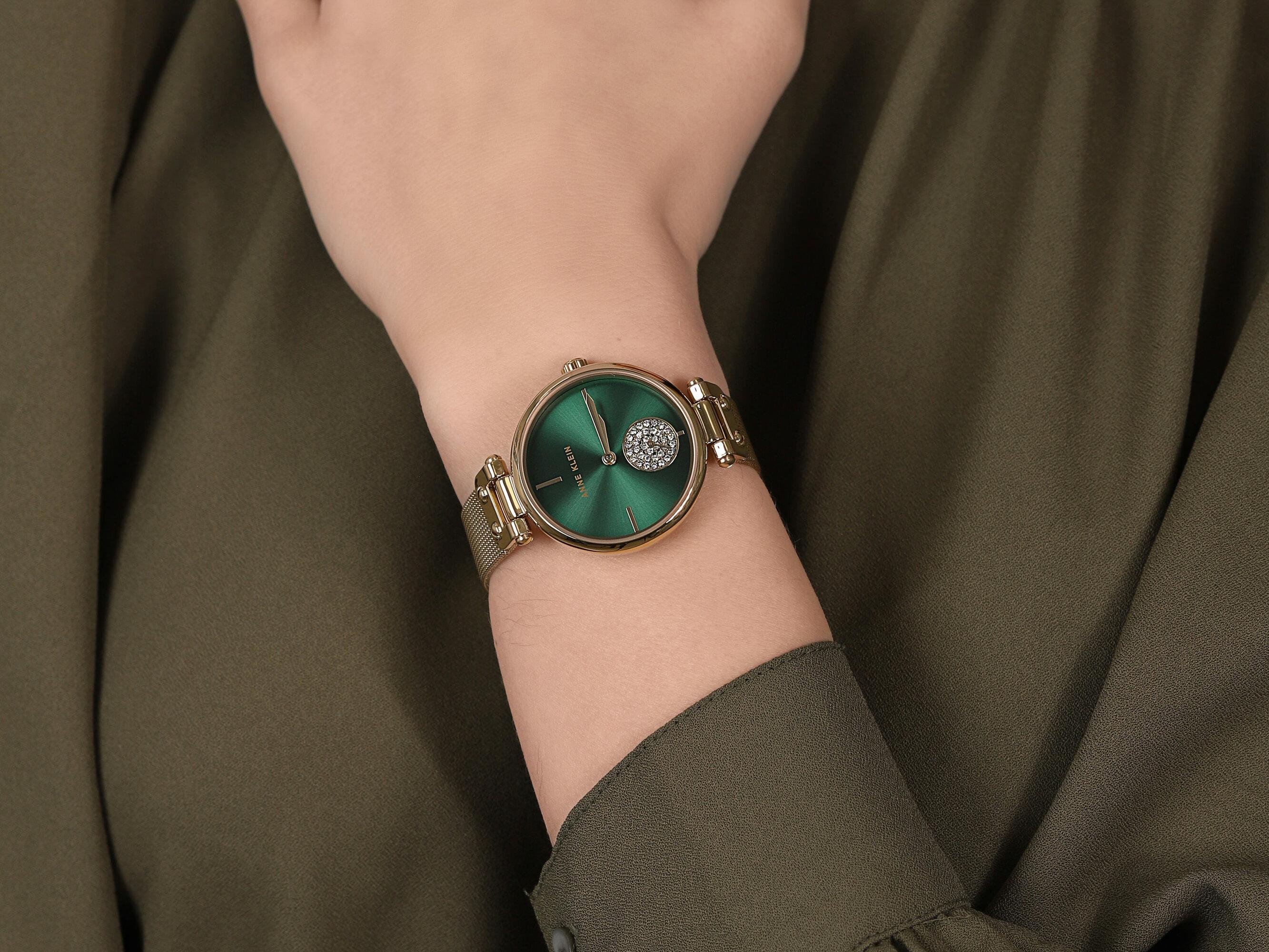 Anne Klein AK-3000GNGB zegarek damski Bransoleta