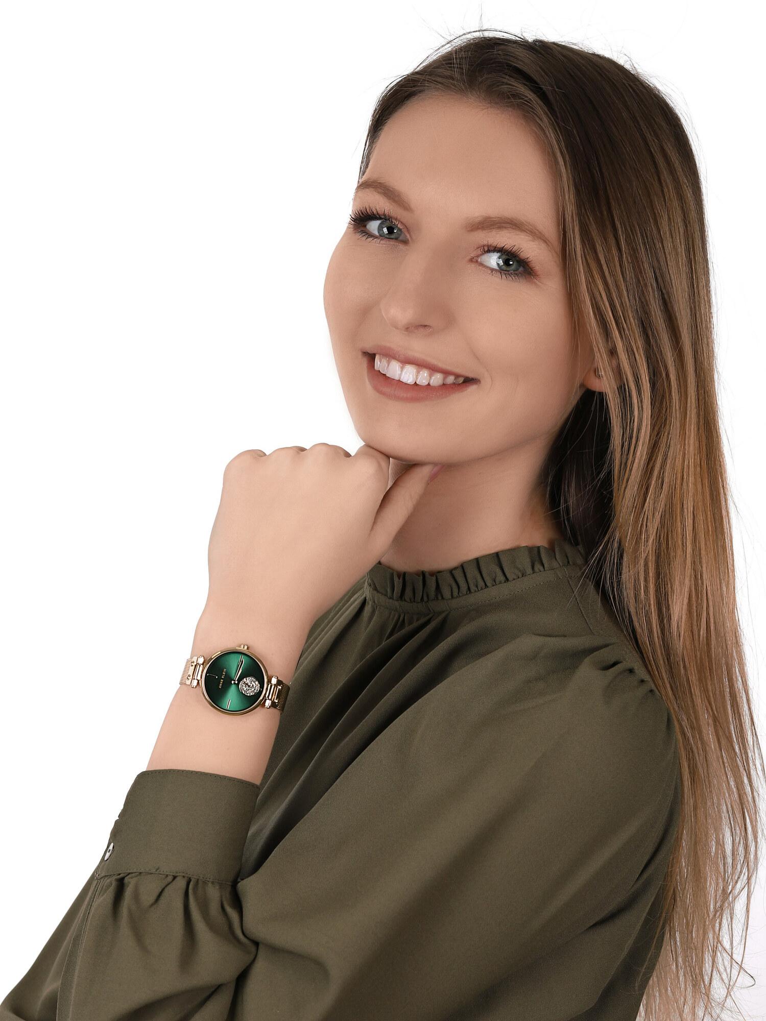 Anne Klein AK-3000GNGB zegarek klasyczny Bransoleta
