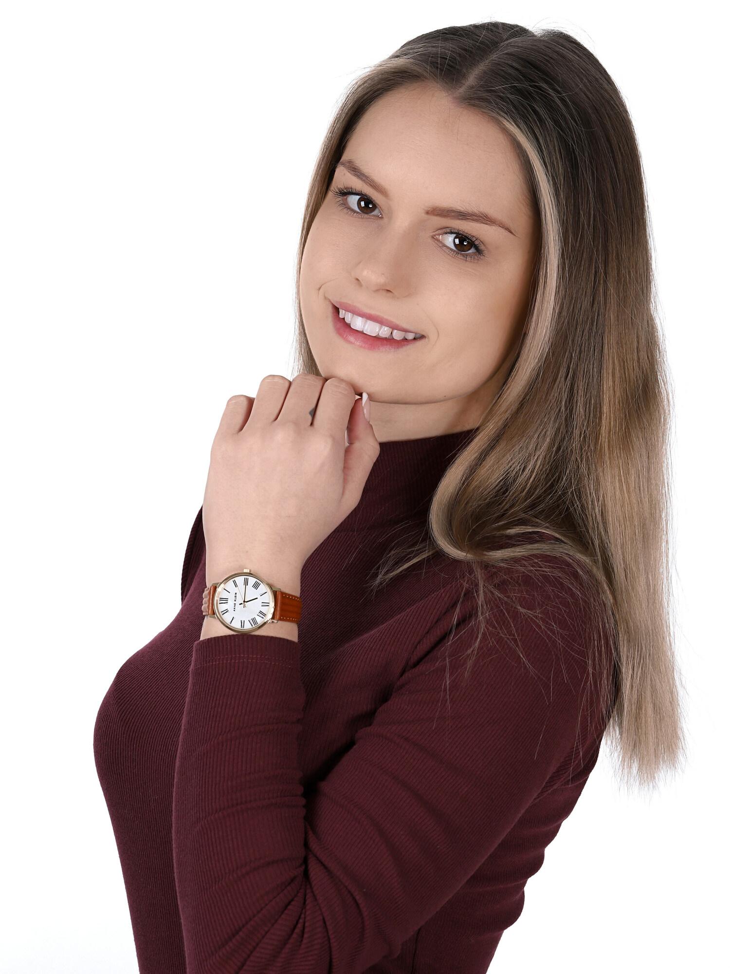 Anne Klein AK-3678MPHY zegarek klasyczny Pasek