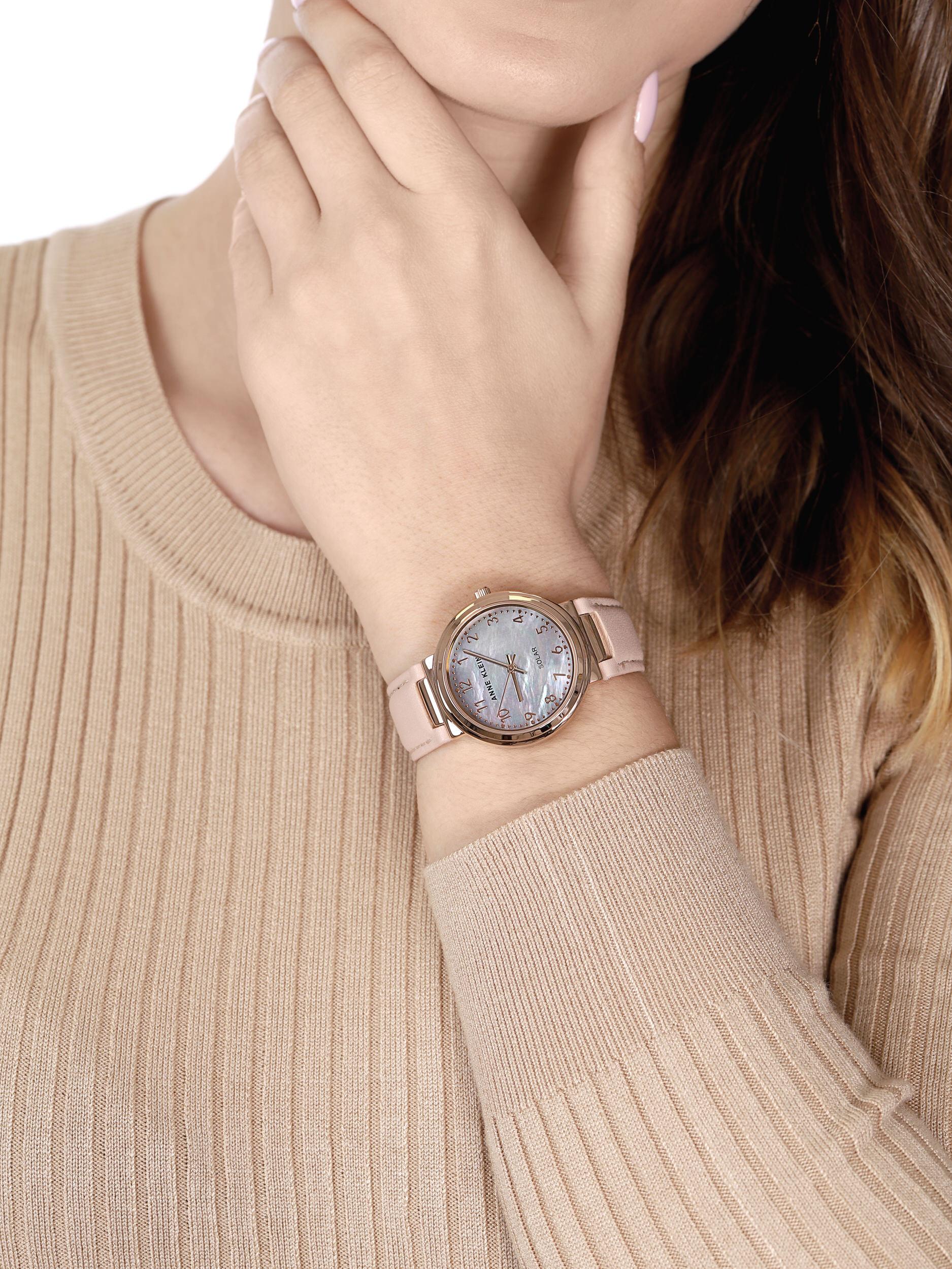 Anne Klein AK-3712RGBH zegarek różowe złoto klasyczny Pasek pasek
