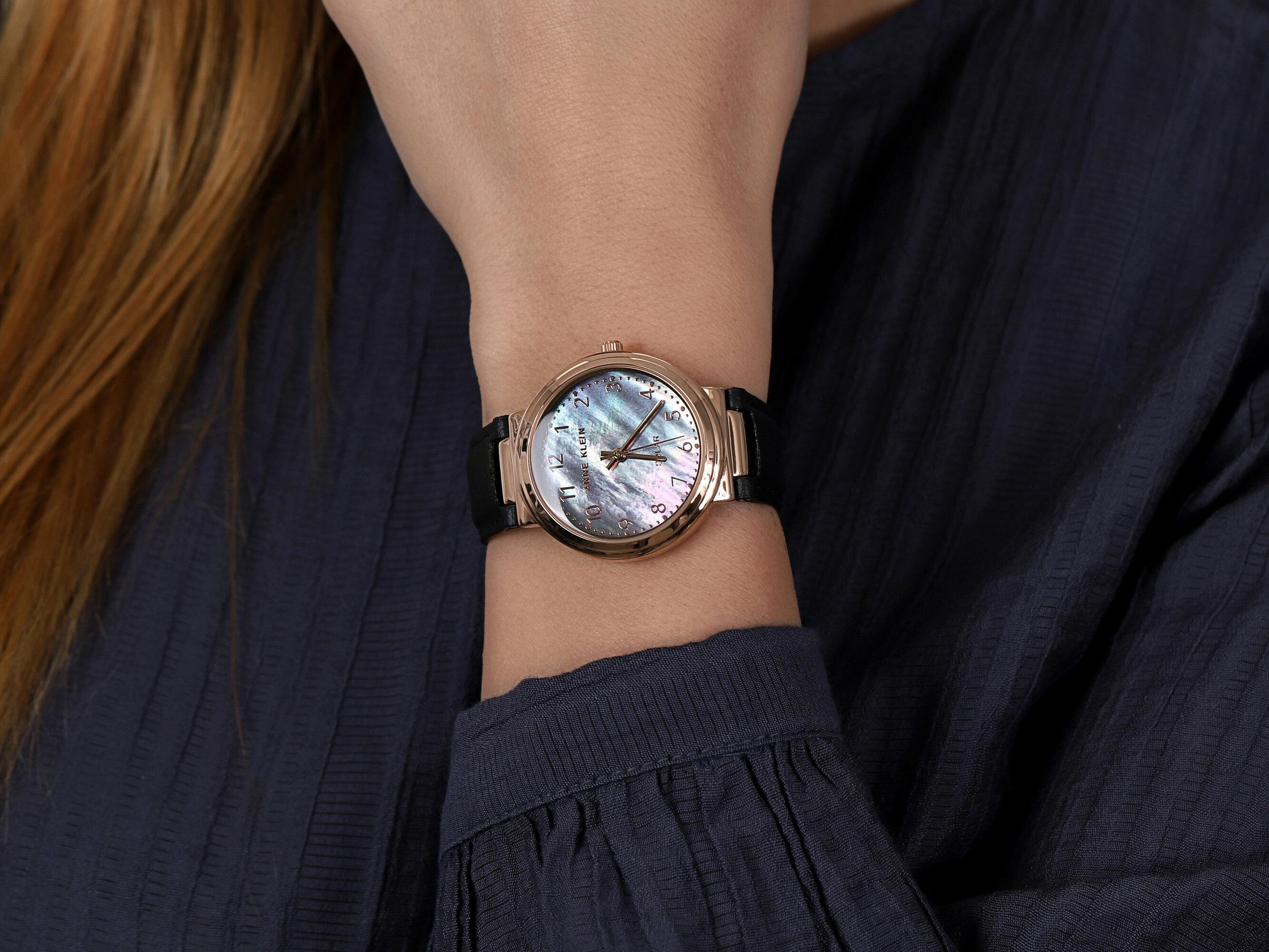 Anne Klein AK-3712RGBK zegarek klasyczny Pasek