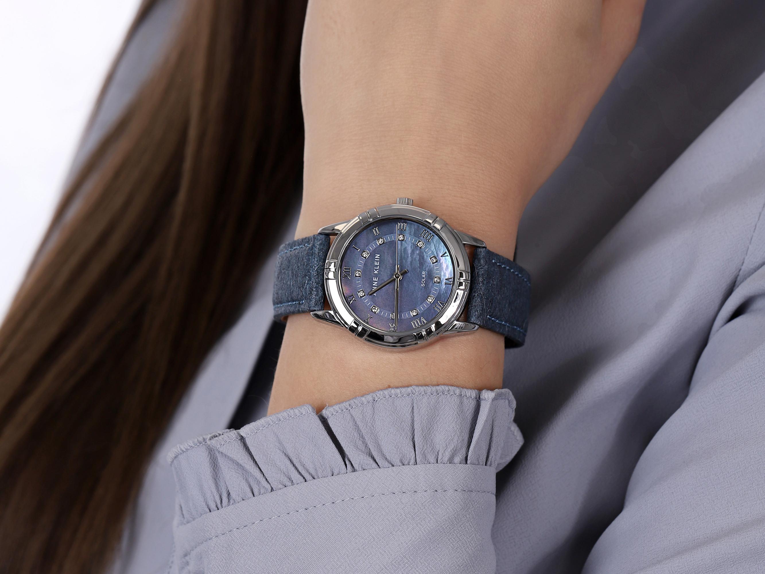Anne Klein AK-3767BMBL zegarek klasyczny Pasek